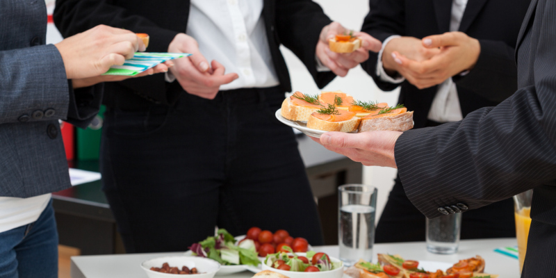 A corporate caterer can also help you with business conference catering